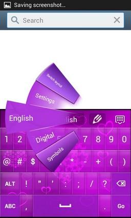 Hearts Purple Keyboard GO