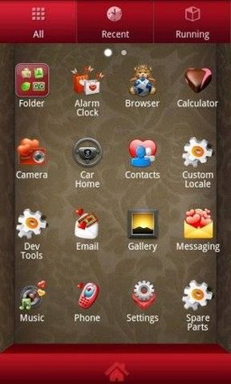 Romantic Theme GO Launcher EX