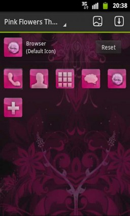 GO Launcher Theme Pink Flowers-1