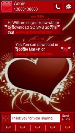 go sms pro valentine red