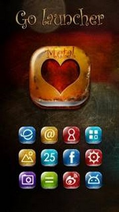 Metal GO LauncherEX Theme v1.2