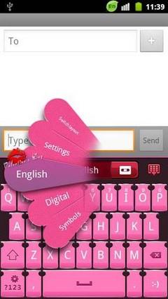 GO keyboard Loving heart theme