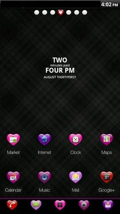 GO Launcher EX Hearts Theme