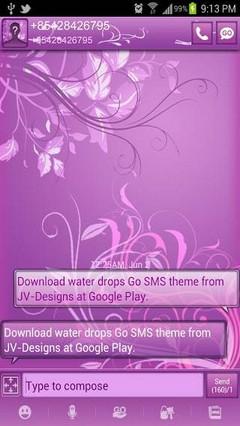GO SMS PastelPurple Theme