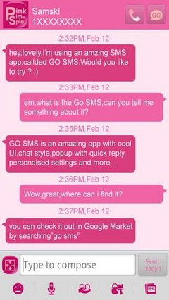 go sms simple.pink theme