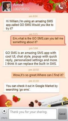 go sms valentine theme
