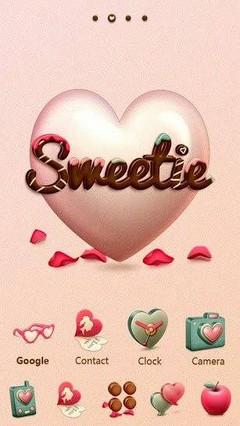Go Launcher Valentine Sweetie Theme