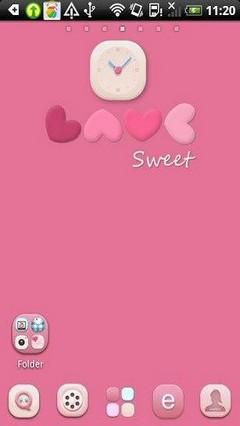 Go Launcher Sweet Valentine