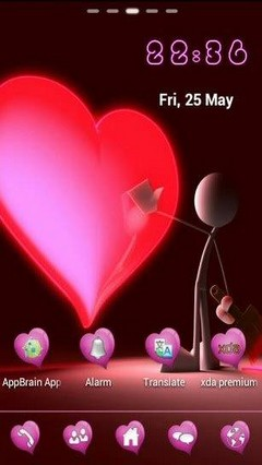Go Launcher Heart Beat Theme
