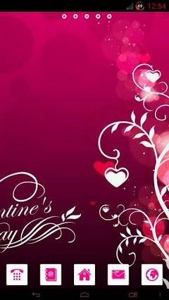 Go Launcher Valentines Theme