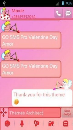 go sms pro valentine day amor