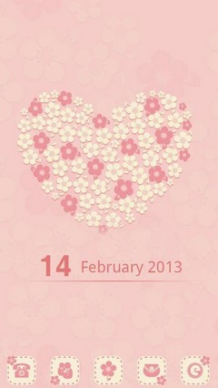 Flower Love GO Launcher Theme