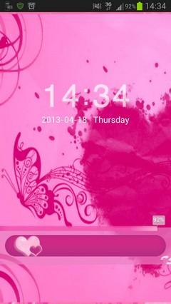 Locker Theme Pink Heart
