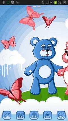GO Launcher Theme teddy bears