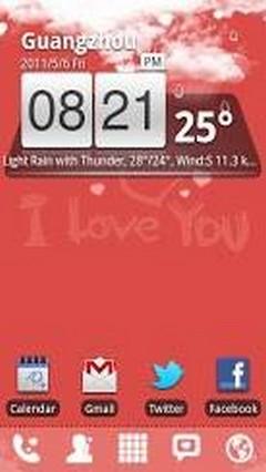 Love Theme GO Launcher EX