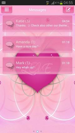 GO SMS Pro Theme Romantic