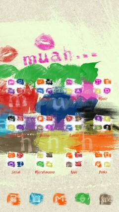 Muah Painted Go Launcher Theme