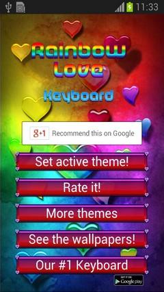 Rainbow Love Keyboard
