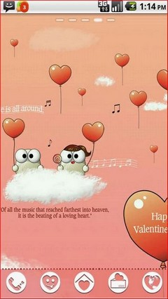 My Valentine Android theme