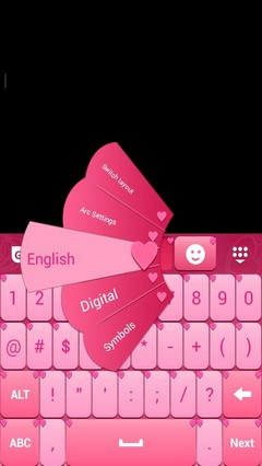 Pink Love Keyboard Theme