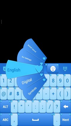 Blue Hearts Keyboard