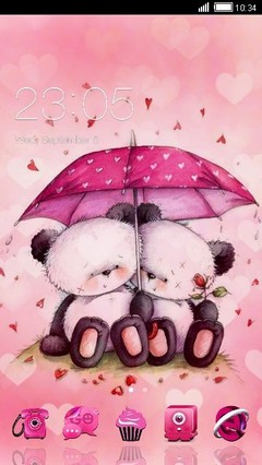 Pink Love Teddys Clauncher Theme