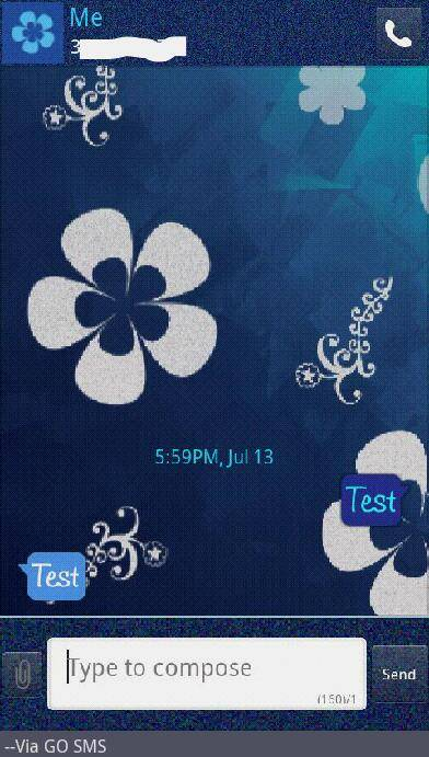 Floral Delight go SMS theme