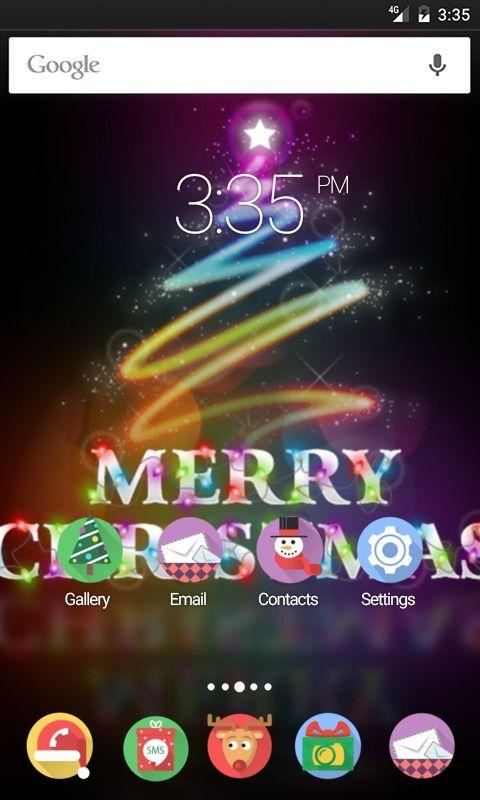 Merry christmas Tree ADW Launcher Theme