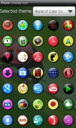 XO Circle theme GO launcher