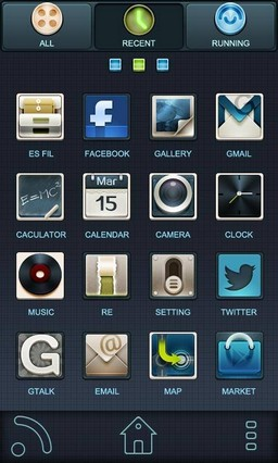 Black GO Launcher EX Theme