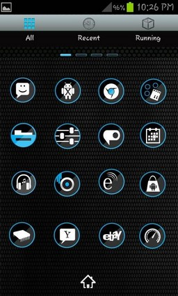 Trance Blue Go Launcher EX Theme