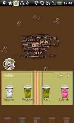 Coffee Cup Go Launcher EX Theme