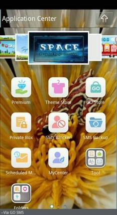 Go SMS Theme Flower Frog