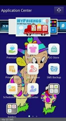 Go SMS Theme Baby Fairy Ladybug