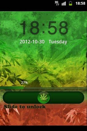 GO Locker Theme Rasta Ganja