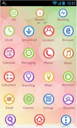 Candy GO Launcher Theme