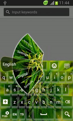 GO Keyboard Weeds Theme