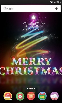 Merry christmas Tree ADW Launcher Theme