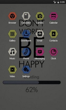 Dont worry be happy Apex Launcher Theme