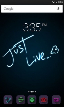 Just live love GO Launcher Theme