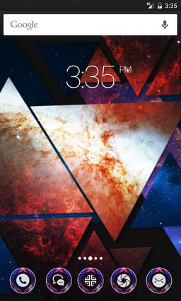 Abstract Triangle Apex Launcher Theme