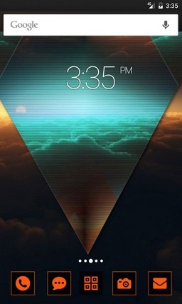 Abstract sky Clouds GO Launcher Theme