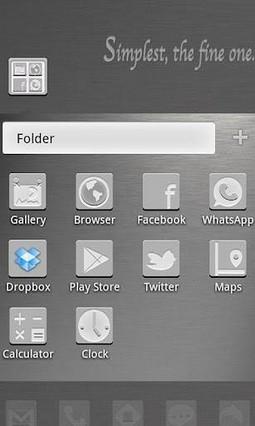 SimplySilver GO Launcher Theme