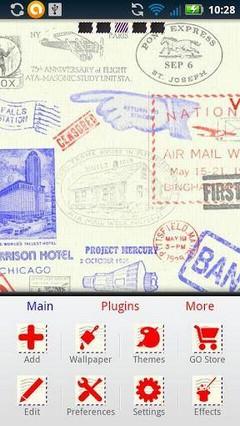 Air Mail GO Launcher Ex Theme