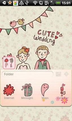 Go Launcher Cute Wedding Theme