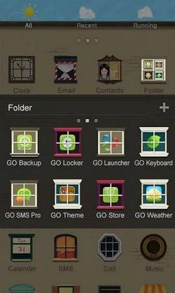 Windows of GO Launcher Theme