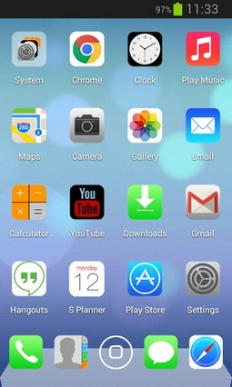Next Launcher iOS7 iPhone