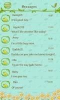 GO SMS Theme FlowerDaily