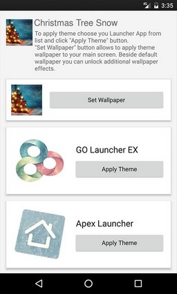 Christmas Tree Snow Multi Launcher Theme