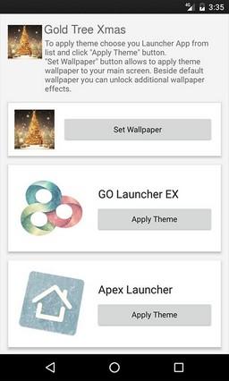 Gold Tree Xmas Multi Launcher Theme